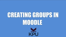 Thumbnail for entry How to Create groups in Moodle