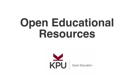 Thumbnail for entry What are Open Educational Resources?