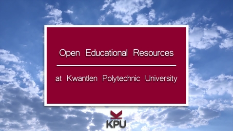 Thumbnail for entry KPU faculty describe their experiences with using open textbooks