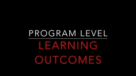Thumbnail for entry Program Level Learning Outcomes