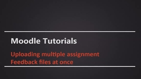 Thumbnail for entry Uploading Multiple Assignment Feedback Files at Once