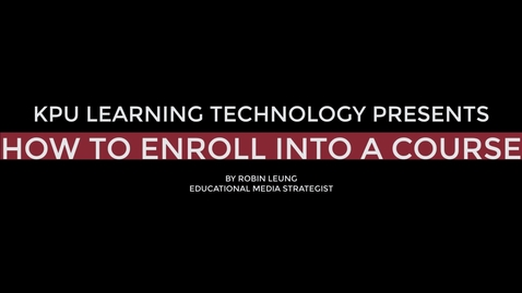 Thumbnail for entry How to enroll into a Moodle course