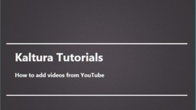 Thumbnail for entry How to add videos from YouTube