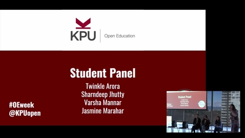 Thumbnail for entry Open Ed Event 2020 - Student Panel