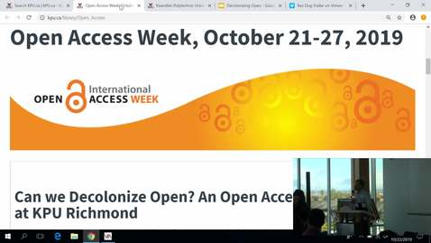 Thumbnail for entry Open Access Week 2019 event - Can we Decolonize Open? (Part 1 of 2)