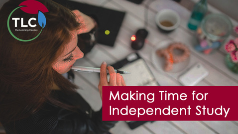 Thumbnail for entry Making Time for Independent Study