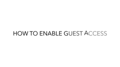 Thumbnail for entry How to Enable Guest Access
