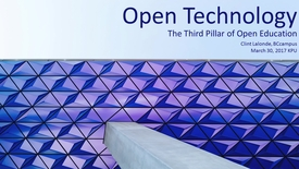 Thumbnail for entry Open Technology: The 3rd Pillar of Open Education