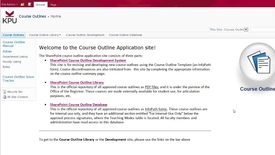 Thumbnail for entry KPU Course Outlines: the SharePoint course outline database