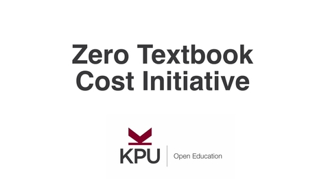 Thumbnail for entry What is the Zero Textbook Cost (ZTC) initiative?