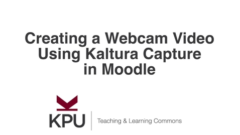 Thumbnail for entry Kaltura Capture Webcam Recording in Moodle