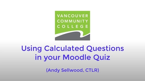 Thumbnail for entry Calculated Question Demo - May 28, 2020