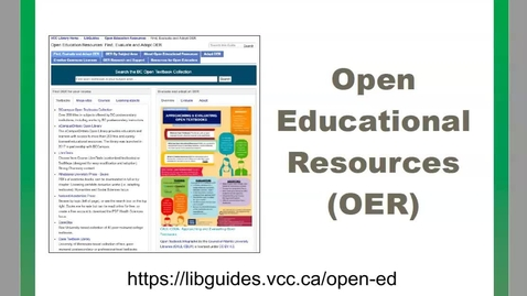 Thumbnail for entry Finding Open Educational Resource