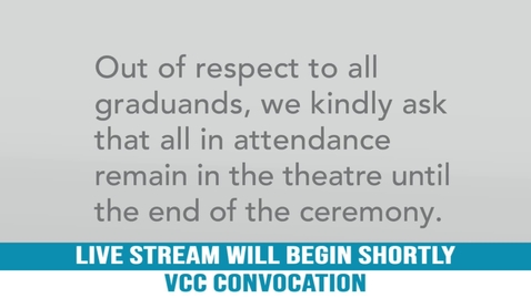 VCC Fall Convocation, 2019
