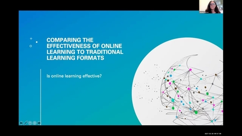 Thumbnail for entry TLR Symposium 2021, Day 2: #01, Comparing Online Learning to Traditional Learning