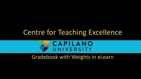 Thumbnail for entry New: Gradebook with Weights in eLearn