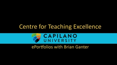 Thumbnail for entry eportfolios with Brian